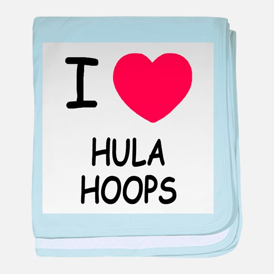 I heart hula hoops baby blanket