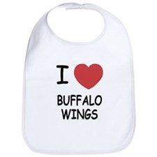 I heart buffalo wings Bib