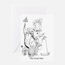 The Pack Rat Greeting Card