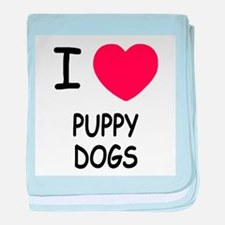 I heart puppy dogs baby blanket