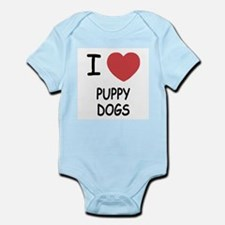 I heart puppy dogs Infant Bodysuit