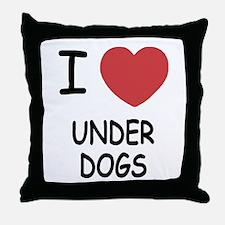 I heart underdogs Throw Pillow