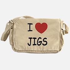 I heart jigs Messenger Bag