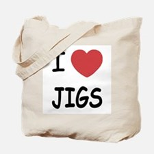I heart jigs Tote Bag