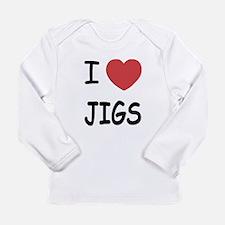 I heart jigs Long Sleeve Infant T-Shirt