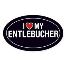 I Love My Entlebucher Oval Sticker/Decal