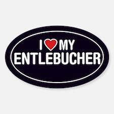 I Love My Entlebucher Oval Sticker/Decal