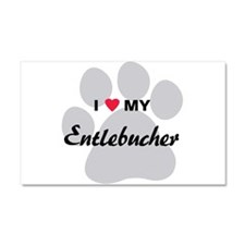 I Love My Entlebucher Car Magnet 20 x 12