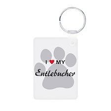 I Love My Entlebucher Keychains