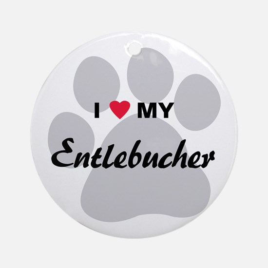 I Love My Entlebucher Ornament (Round)