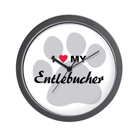 I Love My Entlebucher Wall Clock