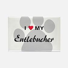 I Love My Entlebucher Rectangle Magnet