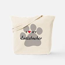 I Love My Entlebucher Tote Bag