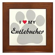 I Love My Entlebucher Framed Tile