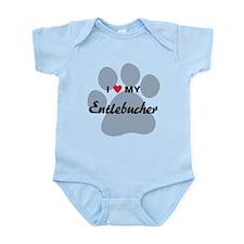 I Love My Entlebucher Infant Bodysuit