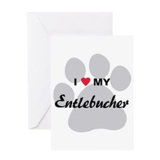 I Love My Entlebucher Greeting Card