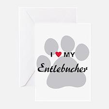 I Love My Entlebucher Greeting Cards (Pk of 10)
