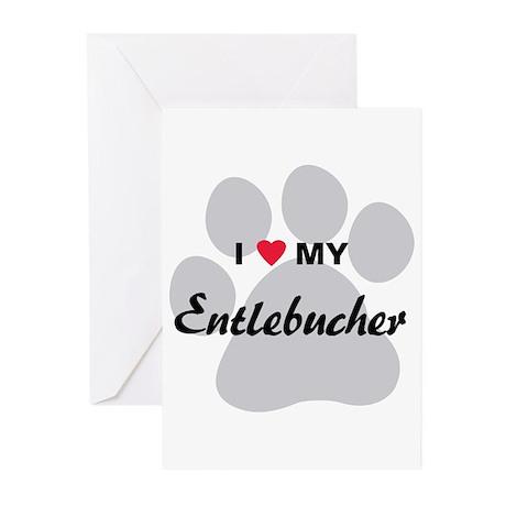 I Love My Entlebucher Greeting Cards (Pk of 20)