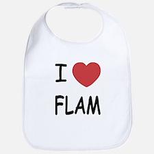 I heart flam Bib
