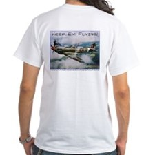 White WIX T-Shirt w Spit back