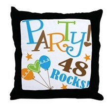 48 Rocks 48th Birthday Throw Pillow