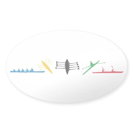 Rowing Sticker (Oval)