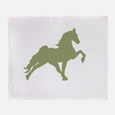 Cool Tennessee walking horse Throw Blanket