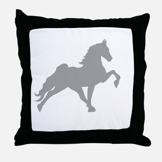 Funny Tennessee walking horse Throw Pillow