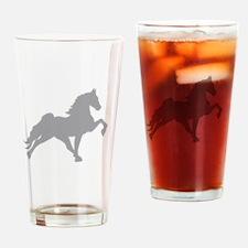 Cute Walking horses Drinking Glass