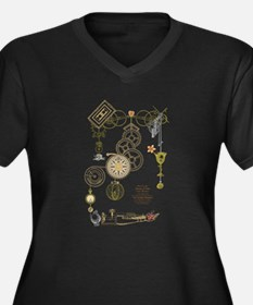 Steampunk Oceans of Time Women's Plus Size V-Neck