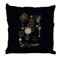 Steampunk Oceans of Time Throw Pillow