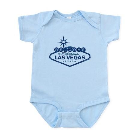 Vintage Vegas Sign - Blue - Infant Bodysuit