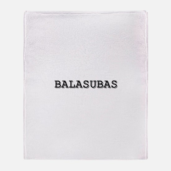 Balasubas Throw Blanket