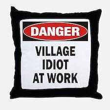 Idiot Throw Pillow