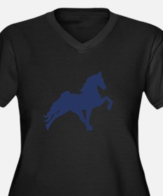 Cute Tennessee walking horse Women's Plus Size V-Neck Dark T-Shirt