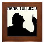 Thank You Jesus - Tebowing Framed Tile