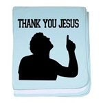 Thank You Jesus - Tebowing baby blanket