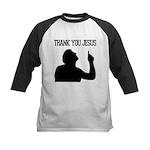 Thank You Jesus - Tebowing Kids Baseball Jersey