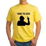 Thank You Jesus - Tebowing Yellow T-Shirt