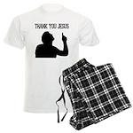 Thank You Jesus - Tebowing Men's Light Pajamas