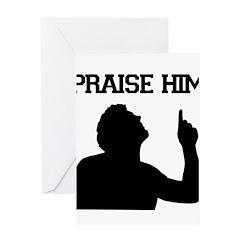 Praise Him - Tebowing Greeting Card