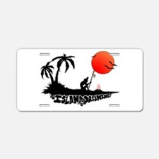 Island Dreaming Aluminum License Plate