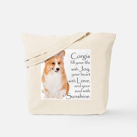 Pembroke Corgi Tote Bag