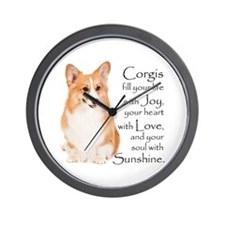 Pembroke Corgi Wall Clock