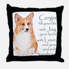 Pembroke Corgi Throw Pillow