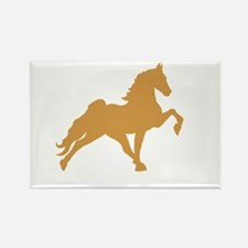 Walking horse Rectangle Magnet