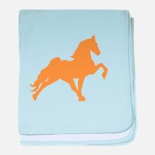 Funny Tennessee walking horse baby blanket