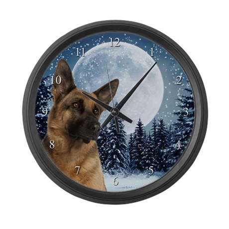 German Shepherd Large Wall Clock