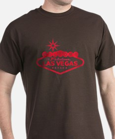 Vintage Vegas Sign - Red - T-Shirt