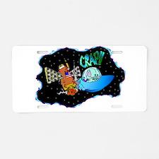 UFO Crash! Aluminum License Plate